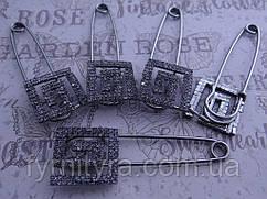Украшение булавка декоративная 010 темн. металл