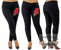 Лосины-джинсовые женские с вышивкой т.м. Vojelavi 1611G