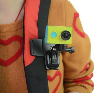 Набор Прищепка-крепление на рюкзак+ переходники  для экшн камер GoPro, Xiaomi,Sony и других камер