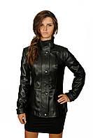 Женская кожаная куртка, цвет - темно-коричневый, фото 1