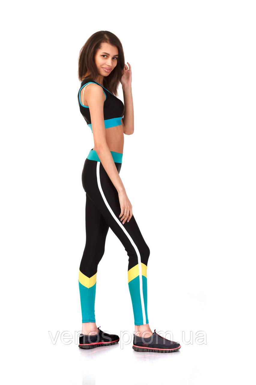Модные женские лосины для фитнеса. L065