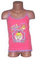 """Топік дитячий дівчинка подвійний рюшик """"Маша"""" (від 1 до 4 років)  - арт. 728461067"""