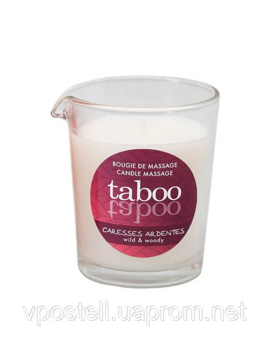Массажная свеча Taboo мужской древесный аромат