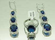Долгожданные комплекты бижутерии Сваровски серьги с кольцами оптом, цветные крупные кристаллы