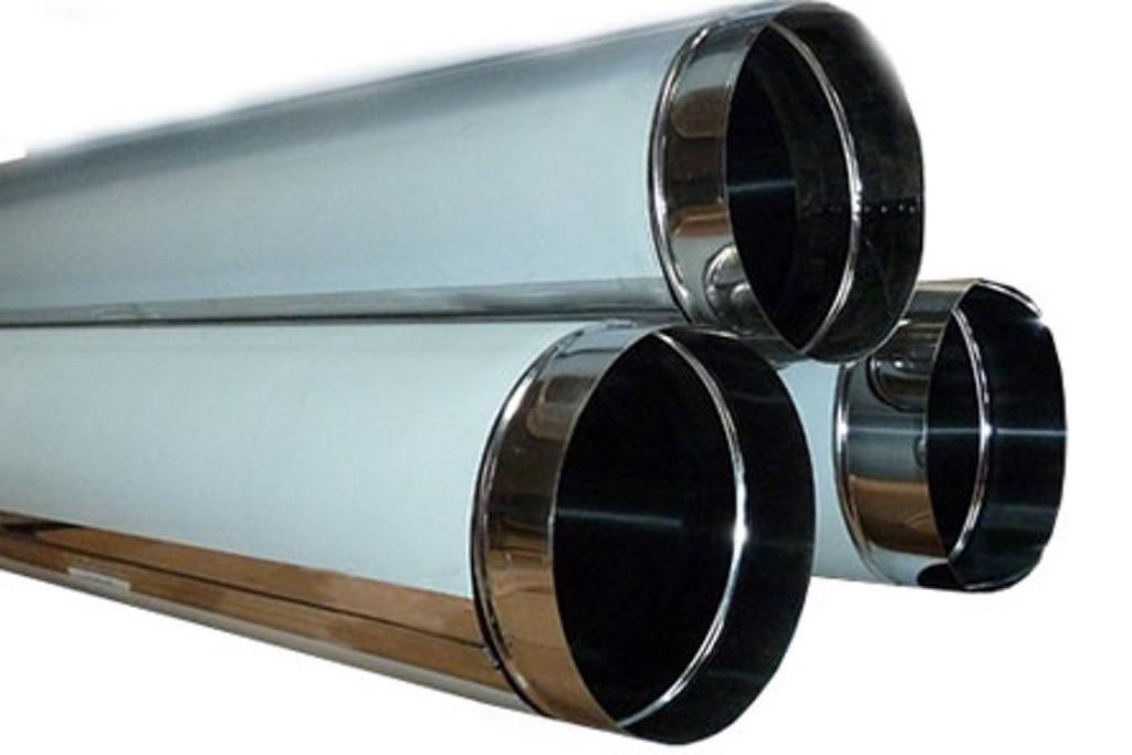 Труба дымоходная одностенная толщиной 0.8 мм/нержавеющая сталь 430