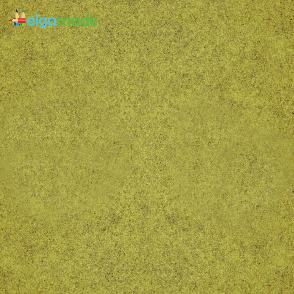 Фетр американский ОЛИВКОВЫЙ меланж, 31x46 см, 1.3 мм, полушерстяной мягкий