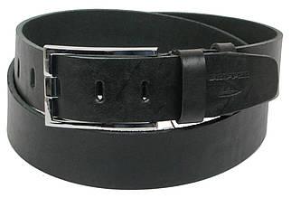 Мужской кожаный ремень под джинсы Skipper 1165-45 черный 4,5 см