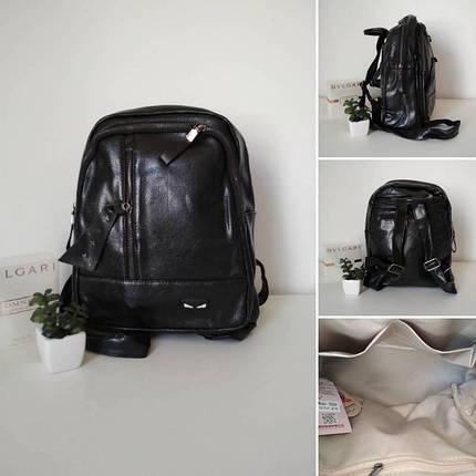 Мини-рюкзак черного цвета для девушки 30*25*14 см, фото 2