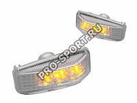 Повторители поворотника ВАЗ 2108, 2109, 21099, светодиодные, хром, фото 1
