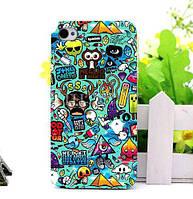 Силиконовый бампер чехол с принтом для Iphone 8 Plus Креатив