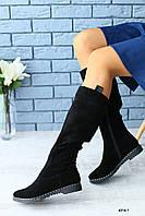 Женские замшевые сапоги , фото 1