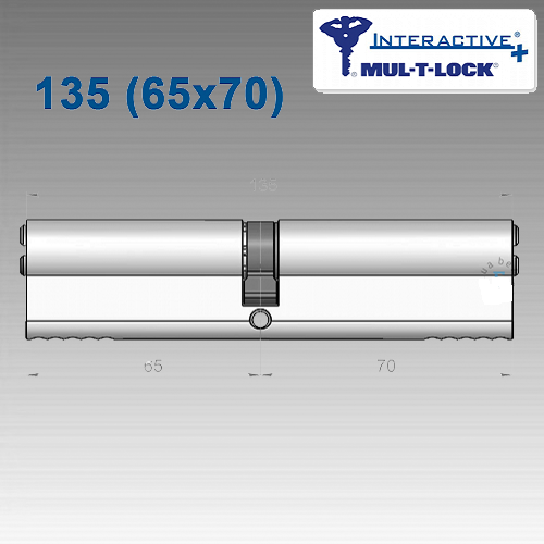 Цилиндр Mul-T-Lock Interactivе+ 135 мм (65х70)