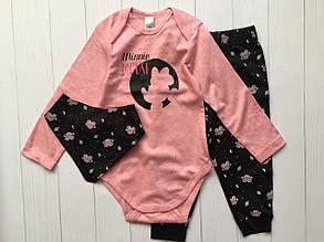 Качественный детский набор боди и штаны для девочки C&A Германия Размер 98