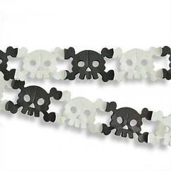 Гирлянда 3D Хэллоуин Череп с костями
