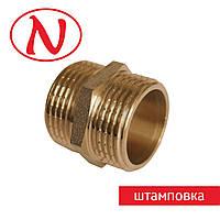 """Нипель 1/2""""Н-3/8""""Н ШТАМПОВКА"""