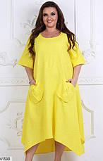 Шикарное женское летнее платье большие размеры: 48-50 и 52-54, фото 3