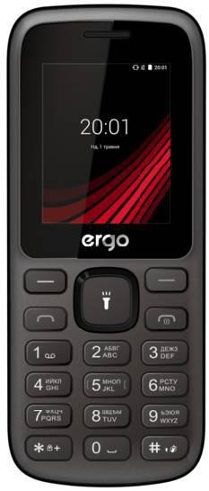 Простой кнопочный мобильный телефон на 2 сим карты с фонариком ERGO F185 Speak