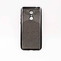 Чехол накладка для Xiaomi Redmi 5 Plus силиконовый, Remax Case GLITTER, Черный