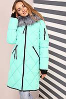 Женское зимнее молодежное пальто Лилиан,  р-ры 42 - 54, Новая коллекция  NUI VERY,