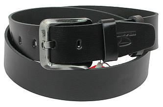 Мужской кожаный ремень под джинсы Skipper 1195-45 черный 4,5 см
