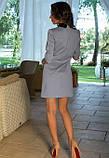 Офисное платье серое, фото 2