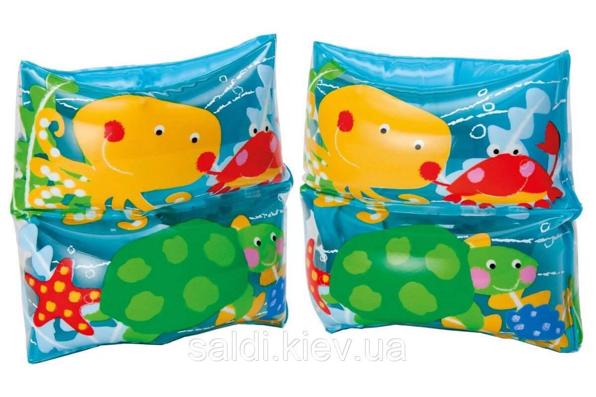 Детские надувные нарукавники для плавания Intex 59650 «Морские друзья», 19 х 19 см
