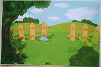 Фетр с  рисунком принтом игровой фон 041