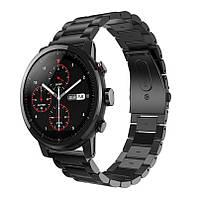 Металлический ремешок Primo для часов Xiaomi Huami Amazfit SportWatch 2 / Amazfit Stratos - Black