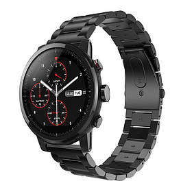 Металевий ремінець Primo для годин Xiaomi Huami Amazfit SportWatch 2 / Amazfit Stratos - Black