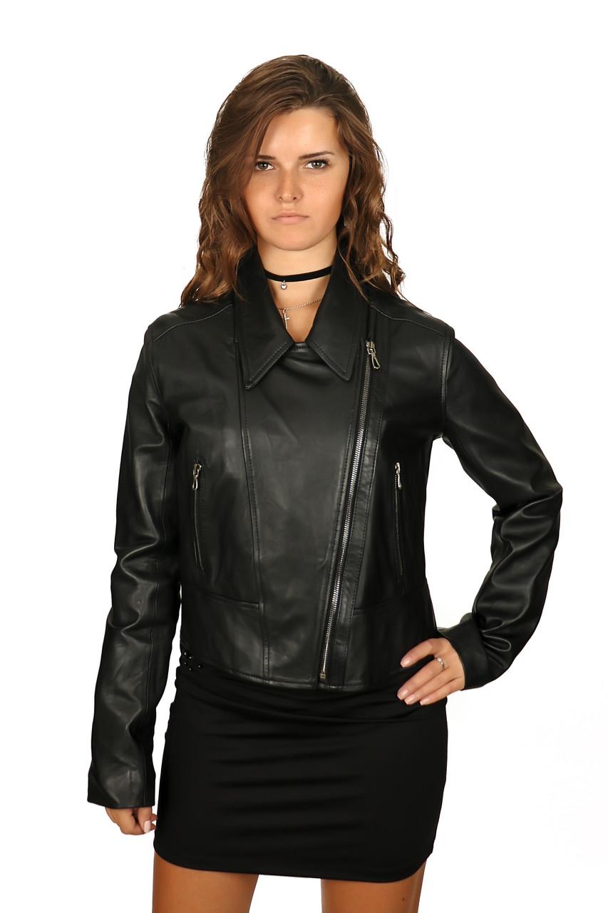 Купить Куртка женская кожаная косуха, черная в Одессе от компании ... df2e856879e