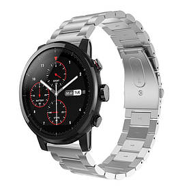 Металевий ремінець Primo для годин Xiaomi Huami Amazfit SportWatch 2 / Amazfit Stratos - Silver