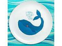 Тарелка Любвиобильный кит
