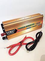 Перетворювач авто інвертор UKC 24V-220V 1500W
