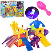 Игровой набор Детская площадка Домик Литл Пони (my Litle Pony), фигурка пони 10 см (светится)