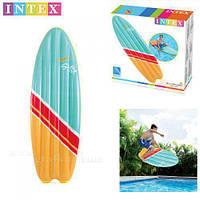 Матрас для серфинга intex 58152, Надувная доска для серфинга 178*69 см 2цв., Пляжный надувной матрас