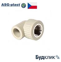 Полипропиленовый Угол Ø25Х1/2 Рв Asg-Plast (Чехия)