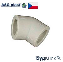 Полипропиленовый Угол Ø50Х45° Asg-Plast (Чехия)