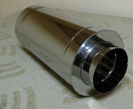 Труба димохідна утеплена нержавіюча сталь 430 в нержавіючої сталі 430