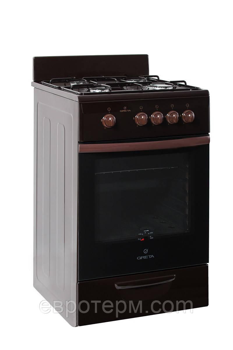 Газовая плита GRETA 1470-00-17 BM коричневая