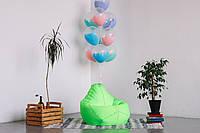 Детское кресло мешок груша салатовое 100*75 см из ткани Оксфорд, фото 1