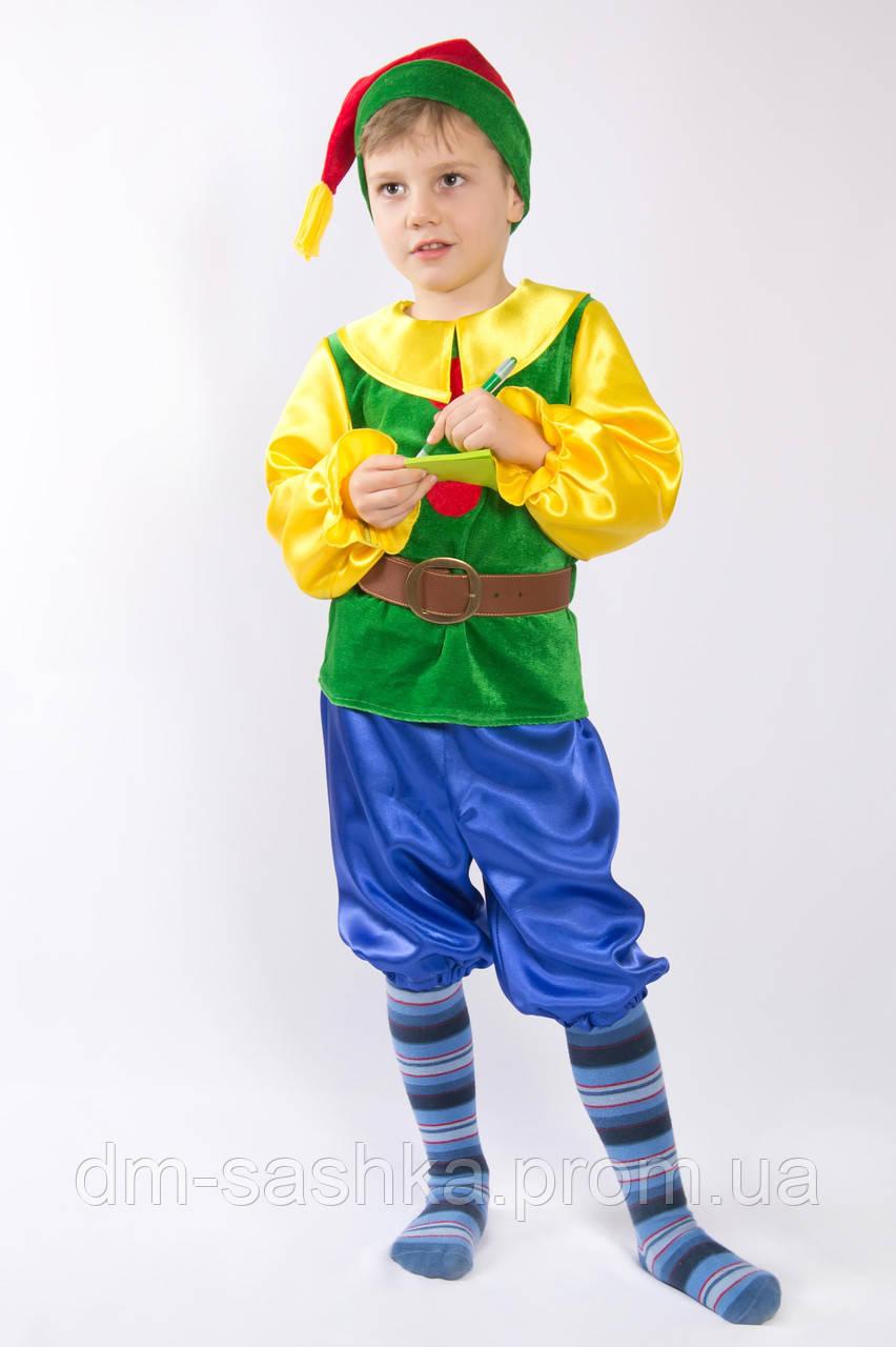 """Карнавальный костюм для мальчиков """"Гномик"""" зеленый, цена ... - photo#14"""
