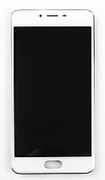 Дисплейный модуль Meizu M3S оригинал в рамке (белый)