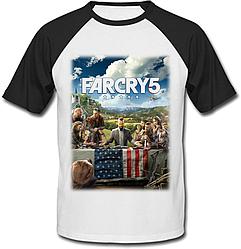Футболка Far Cry 5 (белая с чёрными рукавами)