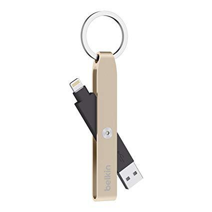 Кабель-брелок Belkin USB 2.0 Lightning KEYCHAIN gold (F8J172btGLD) EAN/UPC: 745883687633