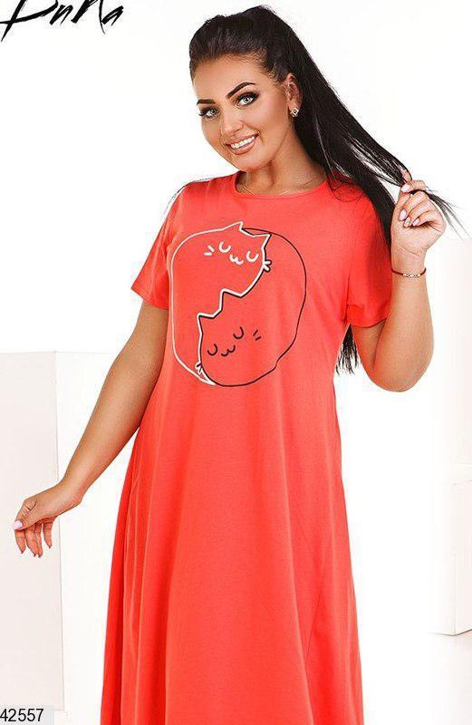 Хит сезона! шикарное летнее женское платье больших размеров 48-52 и 54-58