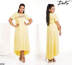 Хит сезона! шикарное летнее женское платье больших размеров 48-52 и 54-58, фото 3