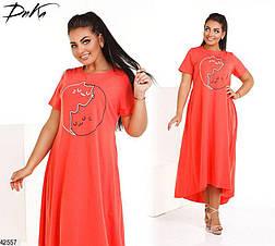 Хит сезона! шикарное летнее женское платье больших размеров 48-52 и 54-58, фото 2
