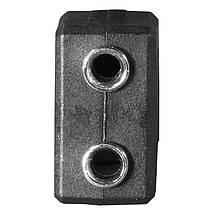 Переходник штекер Lesko 3.5mm папа / 2 x 3.5mm мама двойной для компьютера ноутбука телефона планшета, фото 3