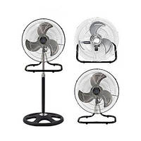 Вентилятор металлический, очень мощный, 3 в 1: напольный, настольный, настенный FS-4521, бытовой вентилятор