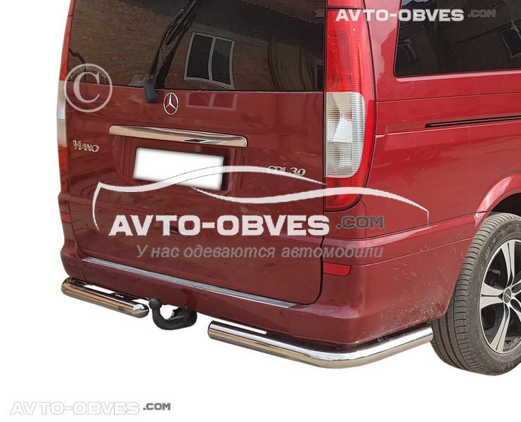 Защита задняя Mercedes Vito Viano 2003-2010, кор (L1) / сред (L2) / экстра длин (L3) базы